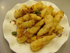 Deep Fried Squid with Peppery Salt (knightbefore_99) Tags: vancouver food art eastvan nanaimo broadway chinese restaurant cantonese tasty lunch eat deep fried squid peppery salt goldenspring
