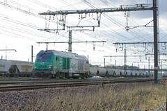 [FR-SNCF] BB 75113 part HLP de Saint-Pierre-des-Corps pour Vierzon @La Ville aux Dames 05/11/2016 DSC_6239_DxO (yael.flament1) Tags: bb75000 bb 75000 75113 bb75113 diesel alstom siemens longueau sncf fret freight hlp hautlepied haut le pied acheminement spdc nevers