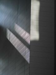 Schattenwurf - shadow on the wall (eckbert.sachse) Tags: rotherbaum hamburg 2016 germany pattern muster freeandhansatownofhamburg freieundhansestadthamburg shadow light schatten licht blue blau grau grey