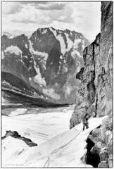 Base of  Forbidden's  South  Couloir 1977 (Fogle Images) Tags: stevegropp portrait landscape alpineclimbing forbiddentotormenttraverse northcascades wa
