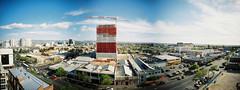 Franklin Street Panorama (Chad Mauger) Tags: 120 adelaide australia composite film franklin lca120 lomo lomography lomographycn400 mediumformat panorama southaustralia street ptgui