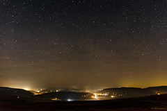 A starry winter's night in Wales (Hoppy1951) Tags: llangynidr powys wales uk gbr blaenonneu bwlch breconbeaconsnationalpark allanhopkins nightsky stars starrynight internationaldarkskyreserve