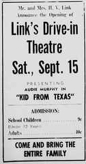 Link's_Drive-In_Grand_Opening_Ad_1951 (drivein aerial photos) Tags: link links drivein theatre theater aspermont tx texas aerial photo