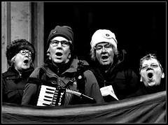 Liverpool Socialist Singers  CU, BW (ronramstew) Tags: liverpool merseyside socialist singers song political left choir bw 2016 2010s