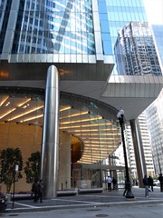 Chicago, Deloitte Office Tower, 111 S. Wacker Drive, Lobby Entrance (Mary Warren (7.6+ Million Views)) Tags: chicago architecture building deloitte officetower lobby reflections lights lines entrance portal doorway
