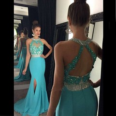 sheath-blue-split-side-halter-appliques-backless-evening-prom-dresses-2016 (maweiyu) Tags: high quality mermaid promevening dress blue halter with beaded