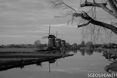 20161203-IMG_1442-2 (SGEOS@EARTH) Tags: molens driemanspolder landschap polder canon eos 5dmarkiv blackwhite reflection