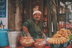 Kachori wala (Street Shop) (MoaazKhan.) Tags: shop street lahore kachori sauces