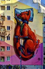 "Bratislava - street art piece by Fat Heat - ""Asleep"" (David Pirmann) Tags: bratislava slovakia streetart mural fatheat"
