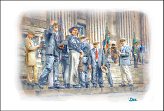 OLD PALS (Derek Hyamson (5 Million views)) Tags: hdr candids oldpals recruits liverpool