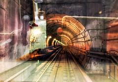 Tunnel vision (wiedenmann.markus) Tags: public transport traffic goingdown underground tunnelvision tunnel rails train