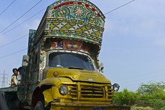 truck art.. (camelot98.) Tags: road street travel pakistan color truck colorful asia candid streetphotography rusty driveby karachi