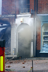Massive fire in Fakenham 11 (Whipper_snapper) Tags: uk england fire pentax norfolk gb blaze destroyed firefighters fakenham pentaxk5 theoriginalfactoryshop norfolkfireandrescueservice