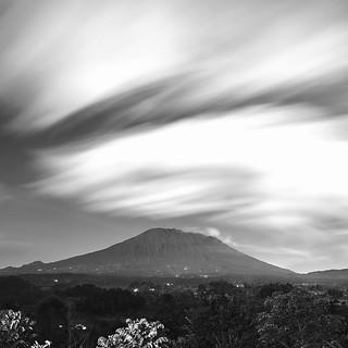 Mt Agung bw