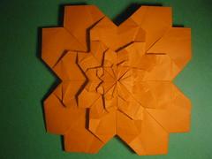 Meenakshi Mukerji's Fractal Sakura (georigami) Tags: paper origami papel papiroflexia
