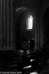 Loneliness in the cathedral. (luisephoto) Tags: street espaa mujer europa gente asturias retratos oviedo catedrales sansalvador robados