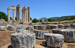 Temple of Zeus at Nemea, early 4th cent. BCE (7) (Prof. Mortel) Tags: temple greece zeus nemea