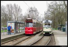 HTM 3060 & HOVM 1022 - De Dreef (Spoorpunt.nl) Tags: museum de den 9 15 rails op haag 1000 1022 jubileum maart 3060 pcc 2014 lijn wagen htm vervoer vrederust openbaar haags dreef nvbs hovm gtl8