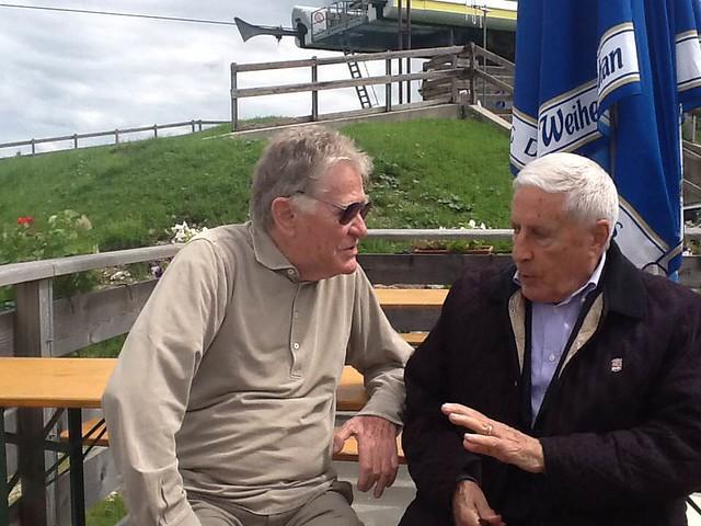 Il M° Ermanno Olmi con il Presidente del Comitato Franco Marini