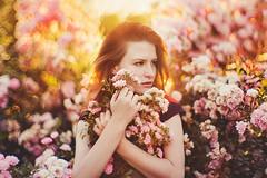 Yana in Sokolniki Park (hobopeeba) Tags: portrait girl beauty canon 50mm bokeh moscow great sunny redhead 095