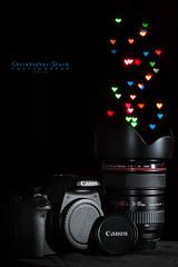 Gear Love (skippys1229) Tags: camera canon 50mm florida bokeh gear studioshot ocala 2014 canonef24105f4l 52weeks offcameraflash 70d 3252 strobist ocalaflorida 52weeksproject custombokeh heartshapedbokeh canonrebelt1i canon70d 52weeksof2014