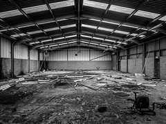 Derelict. Awaiting Demolition. (CWhatPhotos) Tags: pictures camera new old urban white black building college monochrome digital that lens four photography mono town foto with view place tech image artistic pics decay district picture down pic olympus run demolition images tesco have photographs photograph fotos fallen micro technical smashed which derelict broke fit contain 43 thirds em10 mft peterlee esystem easington cwhatphotos olympusem10
