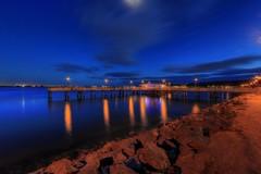 shelter Island Fishing Pier (San Diego Moments) Tags: vacation moon dark island bay pier fishing san diego shelter hdr fathom