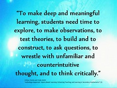 "Educational Postcard: ""How students make deep and meaningful learning"" (Ken Whytock) Tags: school test students education thought time think deep explore learning teaching build questions wrestle observations inquiry construct meaningful counterintuitive theories unfamiliar critically"