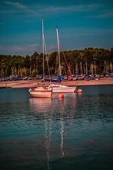 DSC_8489 (Stuart Lilley Photography) Tags: lake reflection water sailboat reflections boats boat nikon lakes reservoir sailboats lightroom carsingtonwater reservoirs d3200