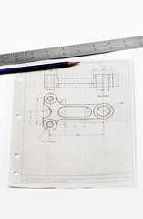 mechanical drawing (eddtoro2011) Tags: usa newyork pencil paper table design mechanical drawing top engineering graph ruler graphing mechanics draft ruled