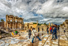 Tourist action in Ephesus, Turkey (Nejdet Duzen) Tags: trip travel turkey cloudy roman türkiye ruin historical ephesus izmir efes harabe kuşadası turkei seyahat tarihi ancientcity bulutlu antikşehir romalılar selçk
