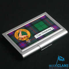 Armstrong Clan Crest Business Card Case