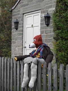 Fox scarecrow