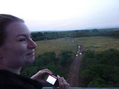 Balloon Ride - Masai Mara (August 2013) (irlLordy) Tags: trip holiday smile lucy honeymoon ride kenya balloon august safari masaimara 2013