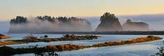 Sunset with low fog (Van-HC) Tags: park sunset sea nature fog island james golden washington national hour olympic dyke olympicnationalpark goldenhour lowfog
