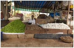3G (Green Chili,Ginger & Garlic) (Amitabhs Photography) Tags: street india shop canon ginger chili market sunday bangalore stock garlic seller wholesale shopkeeper madivala