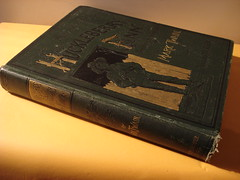 "HUCKLEBERRY FINN, TWAIN, FIRST EDITION, LATER STATE, DAMAGED. • <a style=""font-size:0.8em;"" href=""http://www.flickr.com/photos/51721355@N02/14900740662/"" target=""_blank"">View on Flickr</a>"
