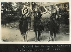 Hula girls - 1918 (sctatepdx) Tags: california snapshot vernacular asilomar 1918 huladancers oldsnapshot vintagesnapshot
