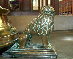 lectern lion (15th Century) (Simon_K) Tags: church norfolk churches brass upwell latten