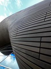 aquatics centre #060 (Harry Halibut) Tags: london art public wooden skin centre curves curvy images abstracts planks allrightsreserved cladding aquatics londonbuildings londonarchitecture imagesoflondon colourbysoftwarelaziness publicartinlondon 2014andrewpettigrew london1407229760