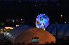 Kids Ferris Wheel Night (pokoroto) Tags: summer canada calgary wheel kids night july ferris alberta stampede 2014 7     bookmonth fumizuki  shichigatsu 26