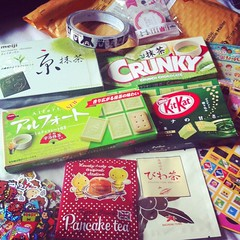 19.07.2014 » a parcel from Japan (ichabodhides) Tags: england japan chocolate stickers july parcels dudley 2014 decotape sedgley