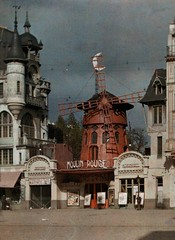 The Moulin Rouge at Montmartre in Paris, 1923 (Static Phil) Tags: paris history 1923 themoulinrouge montmartreparis