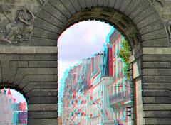 Porte St-Martin Paris 3D (wim hoppenbrouwers) Tags: paris 3d anaglyph stmartin stereo porte parijs redcyan portestmartinparis