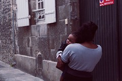   Mother & Child   France   2010 (Marco Lehmbeck I Trippy Tales) Tags: street family baby france love canon mom photography eyes frankreich hug toddler closed child arms tales sleep candid mother warmth son mum marco trippy schlafen mutter carrying closedeyes umarmung sohn lehmbeck