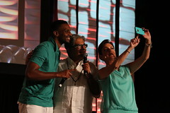 Selfie with J Ivy, Deepak Chopra and Kyra Phillips (Patty Mooney) Tags: california yoga sandiego health medicine healing wellness lacosta deepakchopra chopracenter sagesandscientists choprafoundation