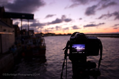 Photographing the harbour sunset (Steven586) Tags: sunset summer canon boat harbour norfolk august wells hightide crabbing wellsnextthesea eos50d eos60d