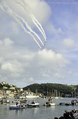 Fly by at the Dartmouth Regatta (RTA Photography) Tags: sky river boats trails dart dartmouth redarrows dartmouthregatta
