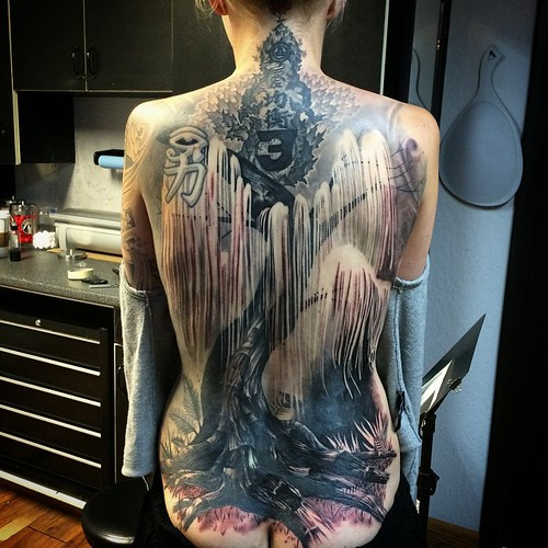 finished the tree of souls backpiece tattoo earlier this week