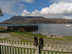 Those boots were made for walking (Jackie & Dennis) Tags: ullapool assynt benmorecoigach ardmair shdrc lochkanaird